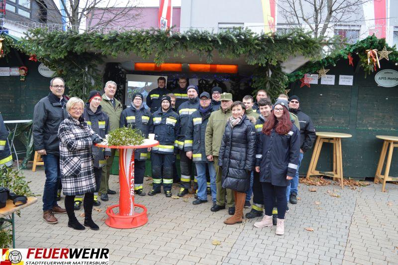 Glühweinstand der Stadtfeuerwehr Mattersburg