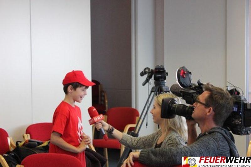 ORF zu Besuch bei den Feuerwehr-Kids in Mattersburg