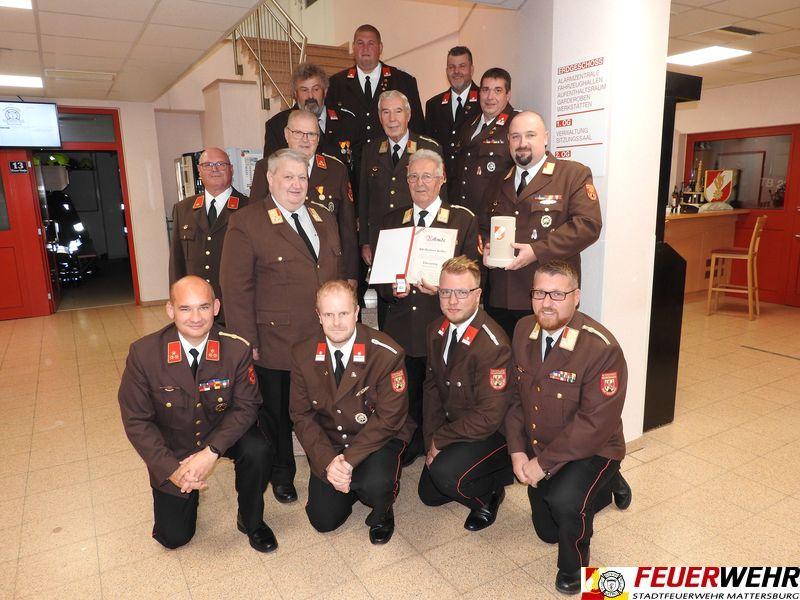 BR Herbert Koller – ein Urgestein der Feuerwehr Mattersburg – feierte seinen 85. Geburtstag!
